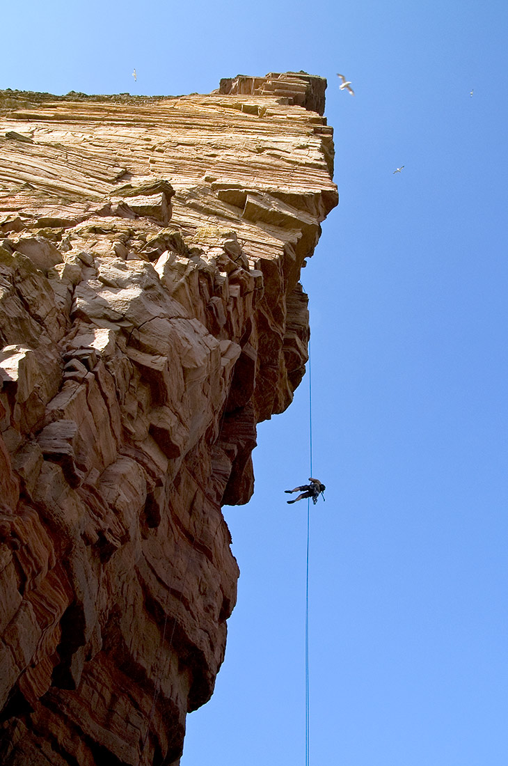 Descending from the Old Man of Hoy, Orkney
