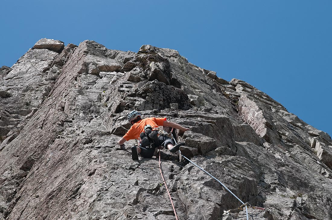 The Red Edge on Esk Buttress
