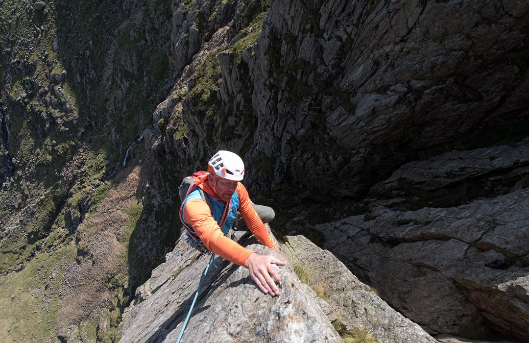 Rock climbing in Snowdonia, Main Wall, Cyrn Las