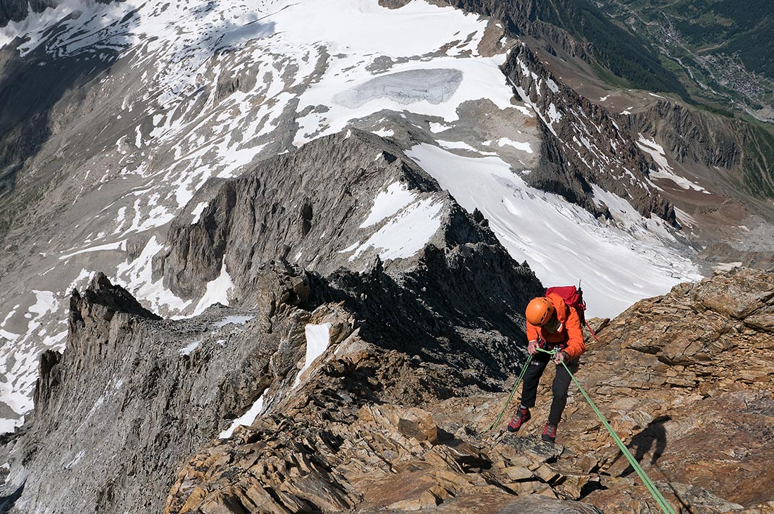 On the traverse of the Bietschhorn