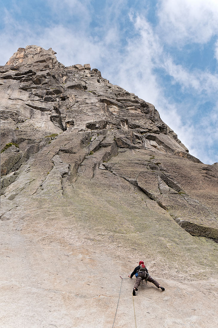Climbing the Winterstock in the Umer Alps